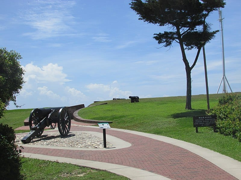 You may not consider a state park when thinking about beach access, but you'd be doing yourself a disservice by skipping out on Fort Macon State Park.