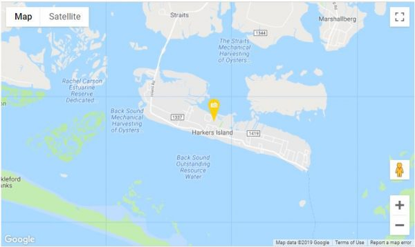 where is harkers island, nc