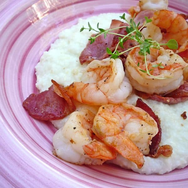 Shrimp and grits is a top dish to get at Amos Mosquito's in Atlantic Beach, NC