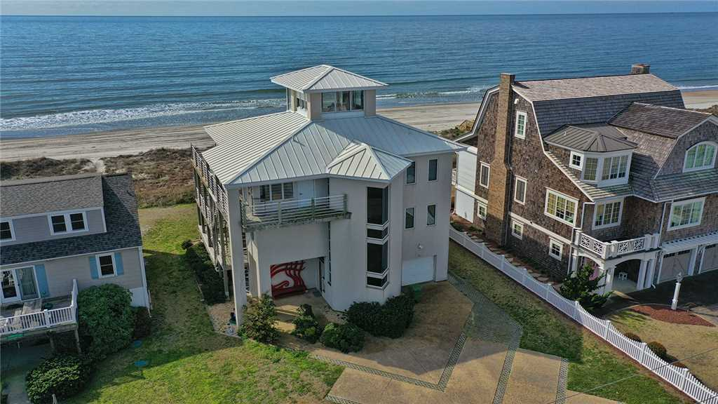 Outside view of beachfront Atlantic Beach vacation home