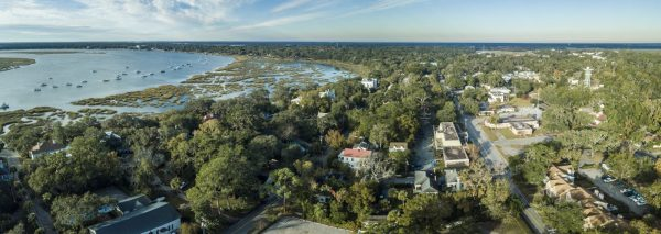 aerial view of crystal coast